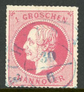 Germany-1864-Hannover-1gr-Rose-SG-37-VFU-G181