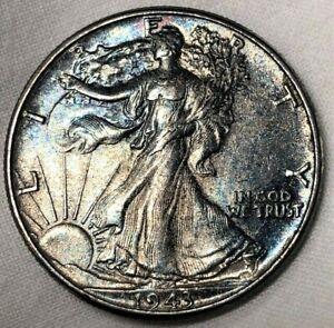 1943-Silver-Walking-Liberty-Half-Dollar-50c-Deep-Gun-Metal-Toned-Uncirculated