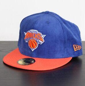 4550c4e316fa3 NEW ERA 59FIFTY NBA New York Knicks Fitted Cap NY blue orange hat ...