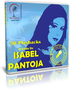 ISABEL-PANTOJA-50-Playbacks-Backing-Tracks-MP3-Tono-Mujer-Female-Key