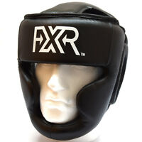 Fxr Sports Leather Boxing Headugard Mma Martial Arts Kick Protection Sparring