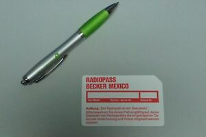 Radiopass-CODE-Karte-Autoradio-BECKER-MEXICO-830-etc-Mercedes-SL-Porsche-NOS