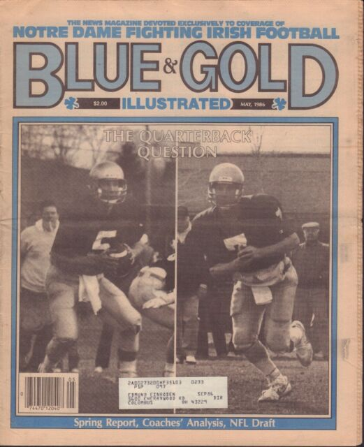 detailed look 6a840 741b9 Blue  Gold Illustrated May 1986 Notre Dame Joe Montana Inside 081417nonjhe