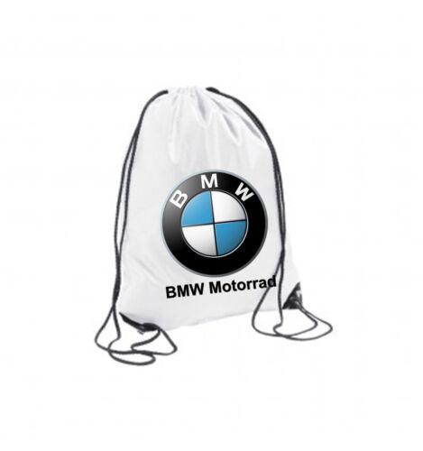 SACCA ZAINO BORSA ZAINETTO SPORTIVO MULTIUSO BIANCA  BMW