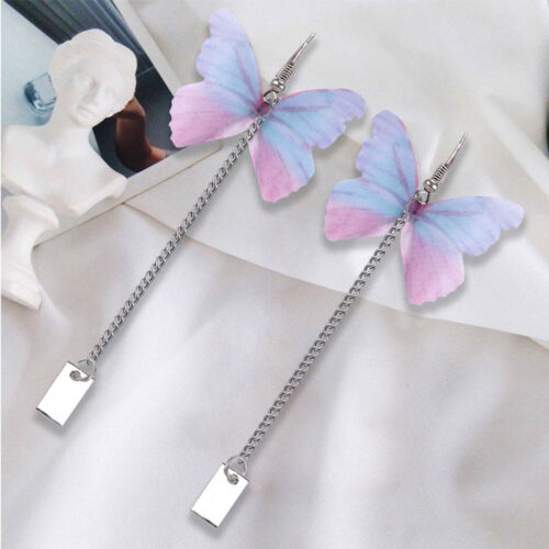 Womens Novelty Butterfly Long Chain Earrings Drop Dangle Hook Earring Jewelry MH