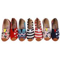 Women Glitter Slip-on Casual Cozy Flats Girls Canvas Leisure Loafer Shoes ONE