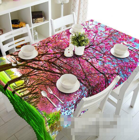 3D rose Tree 5 Tablecloth Table Cover Cloth Birthday Party Event AJ WALLPAPER AU