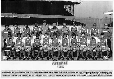 ARSENAL FOOTBALL TEAM PHOTO>1984-85 SEASON