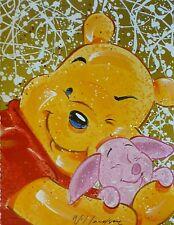 "DAVID WILLARDSON HAND SIGNED Winnie the Pooh ""Very Important Piglet"" WALT DISNEY"