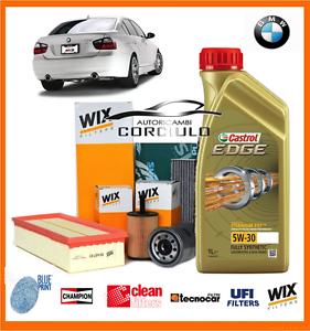 KIT TAGLIANDO OLIO+FILTRI BMW 320D E90 E91 CV 163
