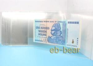 10 Pcs Clear Hard Plastic Sleeve Clip Paper Money Notes