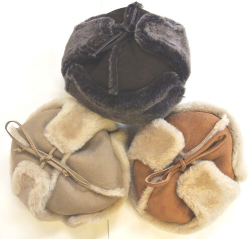 100% genuine sheepskin hat with ear warmers dans différentes couleurs made in the uk afficher le titre d'origine