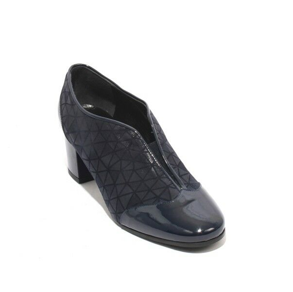 Isabelle 25b Navy Patent Leather Suede Elastic démarrageies Heel chaussures 36   US 6