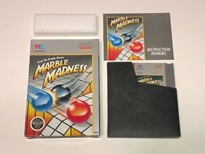 Marble-Madness-Nintendo-Nes-Complete-CIB-Excellent-Condition-Authentic