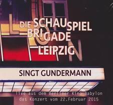 DIE SCHAUSPIELBRIGADE LEIPZIG Singt Gundermann 2CD Live Kino Babylon 2015 * NEU