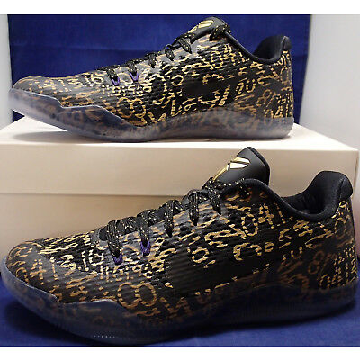 lowest price 43404 2f675 Nike Kobe XI 11 Mamba Day QS iD Black Gold Lakers SZ 9 ( 865773-