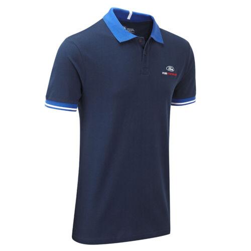 Ford Performance Travel Poloshirt Men/'s Blue Top Motorsport XS S M L XL XXL