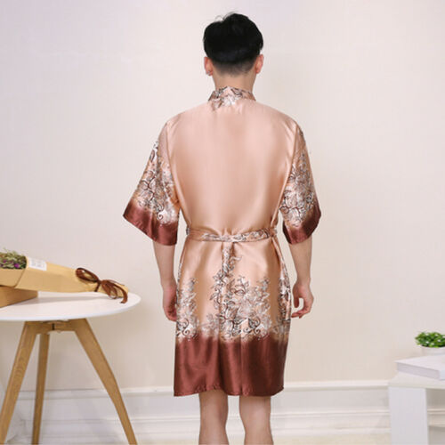 e Nwt accappatoi Pigiama Fashion notte da Pjs Camicia Sleepwear Satin M033 Silk Mens CUYqCr