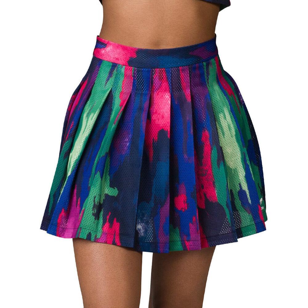 Adidas Originals Femme Pharrell Williams Camouflage Arbre Pleat Jupe Camo Print