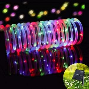 100-LED-Solar-Rope-Tube-Fairy-String-Lights-Waterproof-Xmas-Garden-Decor-Lamp