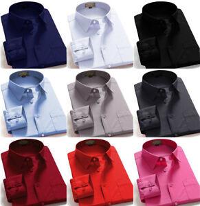 dress shirts men s regular fit oxford long sleeve one pocket solid