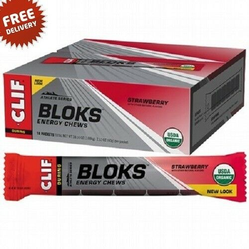 Clif Bloks 18 x 60g Strawberry