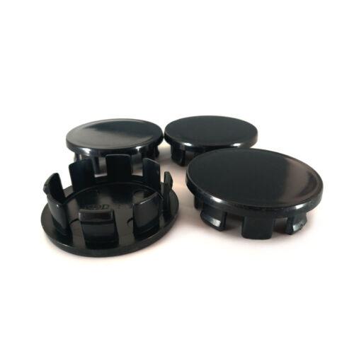 4 MOZZI TAPPI Coperchio Mozzo Cerchi Coperchio Nero 48mm//43mm per FIAT 500 k16b
