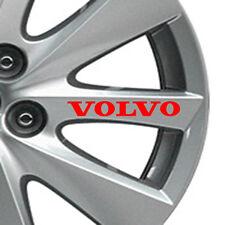 Juego de 8 Ruedas de Aleación de coche Volvo Pegatinas V40, V60, V70, S60, S80, XC60, XC90 (Rojo) N.1