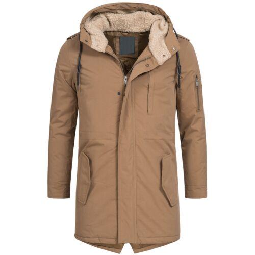 AZ-Fashion Uomo Parka Cappotto Giacca giacca invernale caldo pelo TEDDY S-XL az32