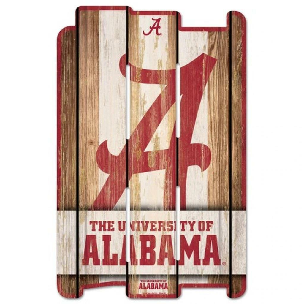 NCAA Wood Fence Sign 11 x 17