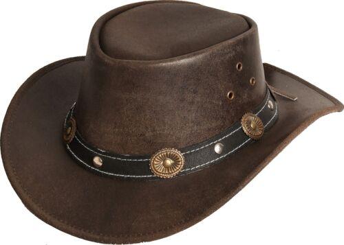 Lederhut Cowboyhut Braun RENO KIDS HAT Kinderhut Western Formbar Rugged Earth