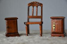 Puppenstube, Nachttischchen und Stuhl, sehr alt, antik, Dachbodenfund, Art Deco!