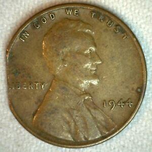 1944-Nous-Lincoln-Cents-Ble-Inverse-Un-Piece-de-Monnaie-Laiton-Vous-Grade-Pince