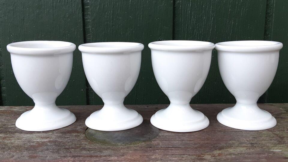 Porcelæn, 7 Stk. PILLIVUYT ÆGGEBÆGRE, Coquetier