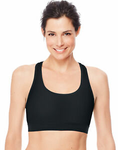 0ccaec9a24 Image is loading Hanes-Women-039-s-Sports-Bra-Racerback-Compression-