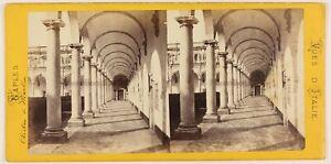 Napoli-Chiostro-S-Martini-Foto-Stereo-Th1L6n5-Vintage-Albumina-c1868