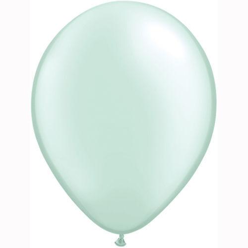"Belbal Light Green Metallic 12/"" Latex Balloons Birthday Wedding Any Occasion UK"