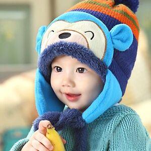 Baby Winter Warm Hat Children Kid Cap Earflaps Thickening Cartoon ... 78204ce2b089