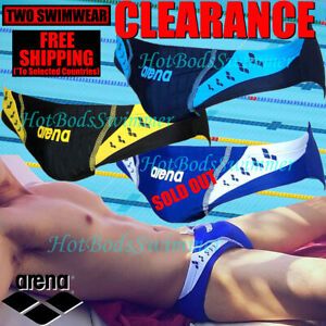CLEARANCE-Arena-AST13104-Men-039-s-Low-Rise-Competition-Speedo-Swimwear-Briefs