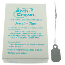 Arch Crown Merchandise Jewelry Price Tag Silver Square String Style 100 Pcs