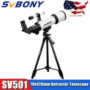 SVBONY-70mm-Refractor-Telescope-Fully-Coated-Glass-Optical-49-034-Aluminum-tripod-US