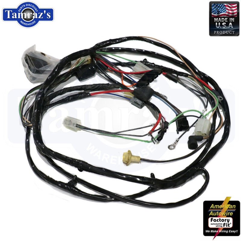 69 chevelle headlight switch wiring 69 chevelle el camino front light wiring harness 6 cylinder with  69 chevelle el camino front light