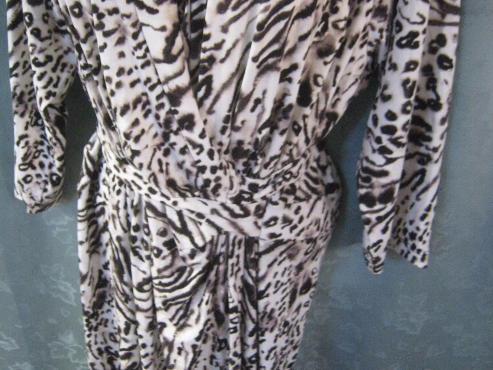 Cynthia Rowley Wrap Front Dress Plus Size 3X NWT Animal Animal Animal Print 7c7f16