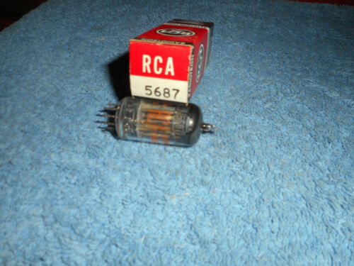 RCA 5687 VACUUM TUBE VINTAGE NOS AUDIO TUBE BOX TAB DATE (9-60) RADIOTRON TUBE
