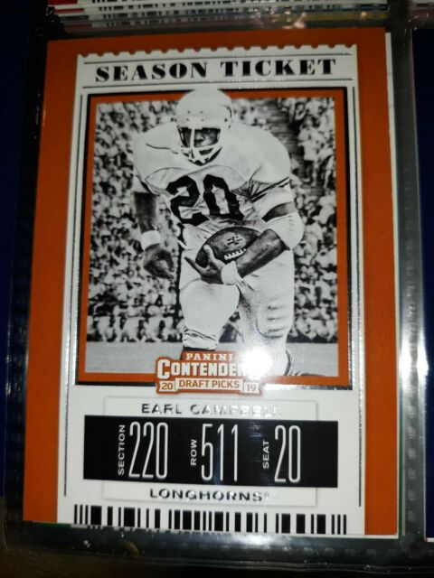 2018/19 - Panini Contenders Draft - Earl Campbell - Texas Longhorns Football