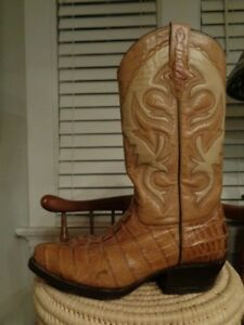ab814dd0a94 Details about RUDEL Rogers Boots alligator & 100% leather western boots  men's size US 6 1/2 E
