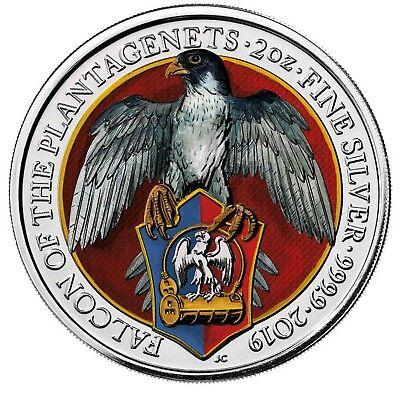 Gelernt Großbritannien 5 Pfund 2019 Falcon Of Plantagenets Falke Queens Beast In Farbe