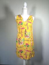 Jams World Islands Yellow Sun Dress 100 % Rayon Hawaiian