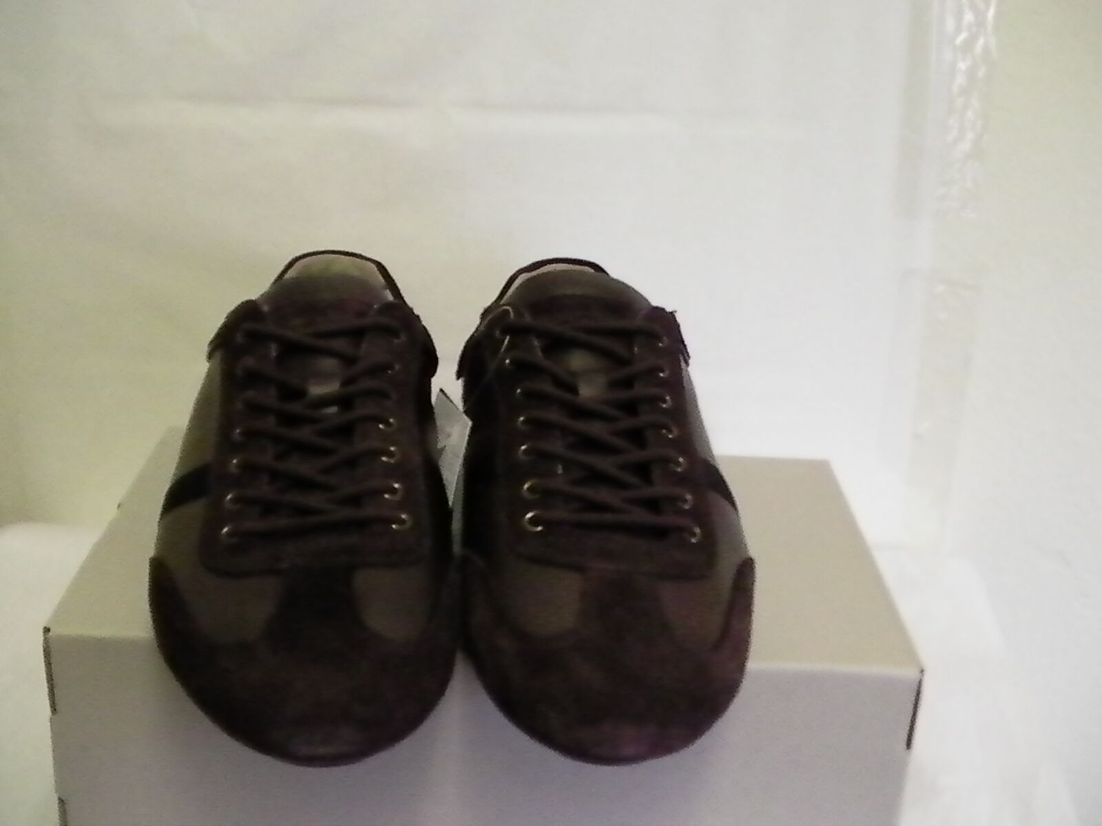 Lacoste mens shoes berryman srm lth leather dark brown brown brown size 12 us new b17768
