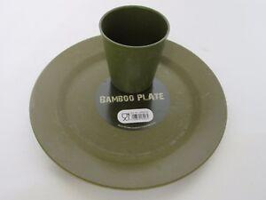Bambus Teller Becher Bamboo Plate Cup Light Camping Geschirr